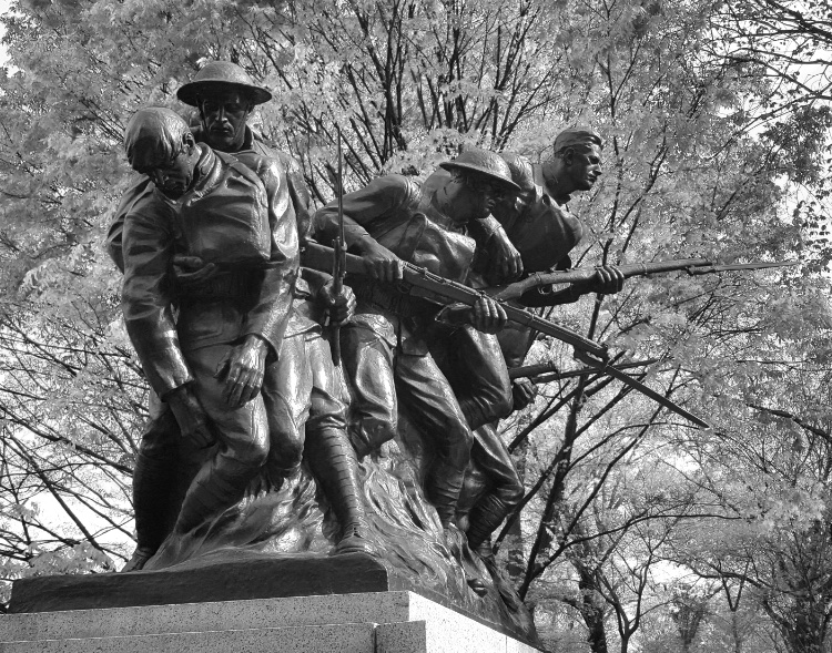 The 107th Infantry Memorial in Central Park