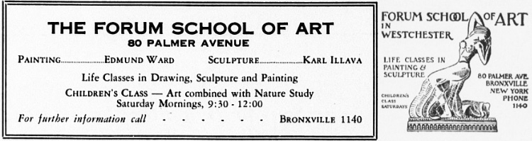 Advertisements for The Forum School of Art